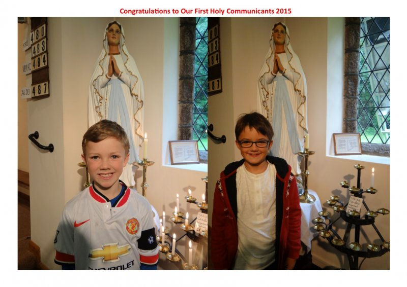 First Holy communion 3rd September 2015