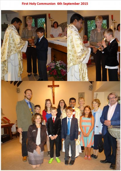 First Holy communion 6th September 2015