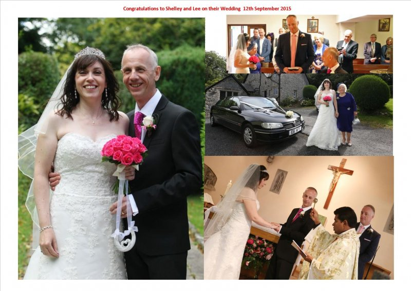 Shelley and Lee on thier wedding on 12th Sept 2015