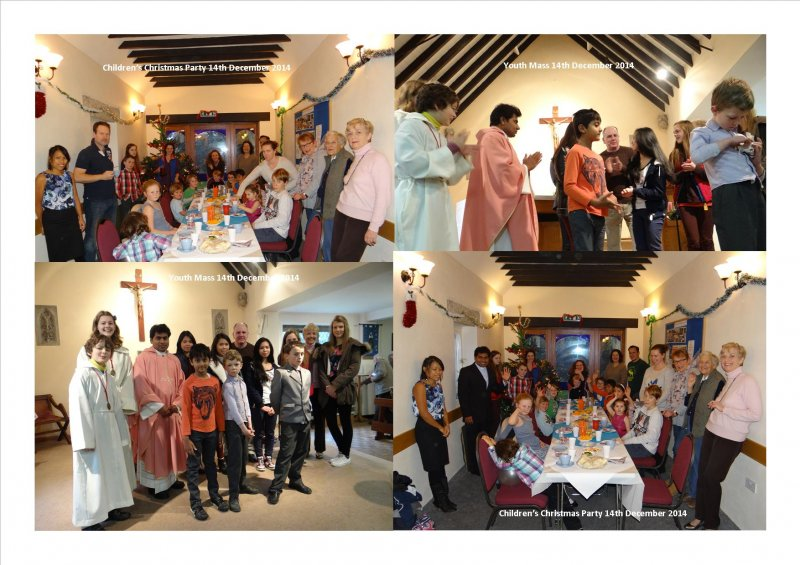 Youth Mass & Children's Christmas Party 14th December 2014