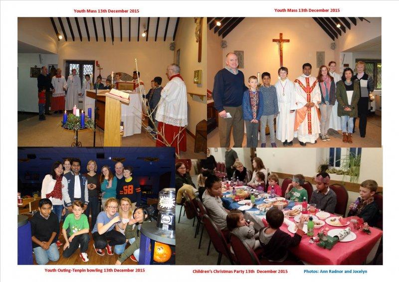 Youth Mass and Children Mass 13th December 2015