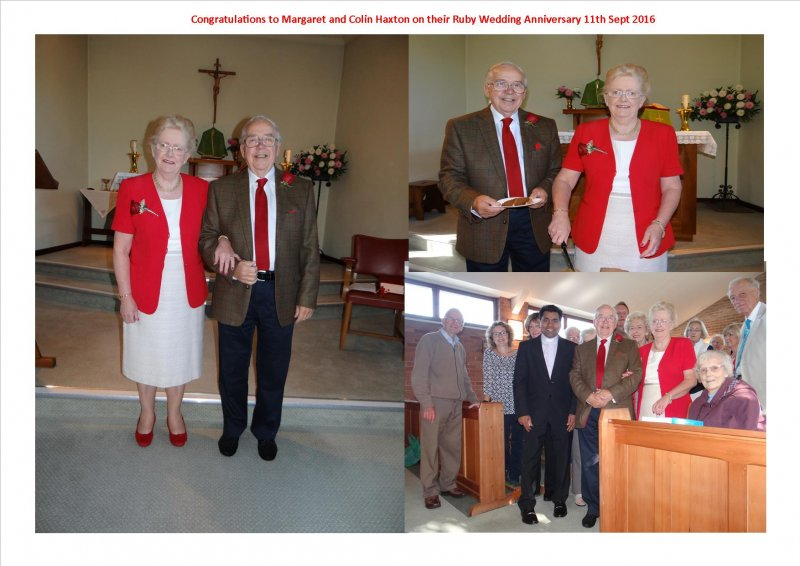 Congratulations to Margaret and Colin Haxton on Ruby Wedding Anniversary