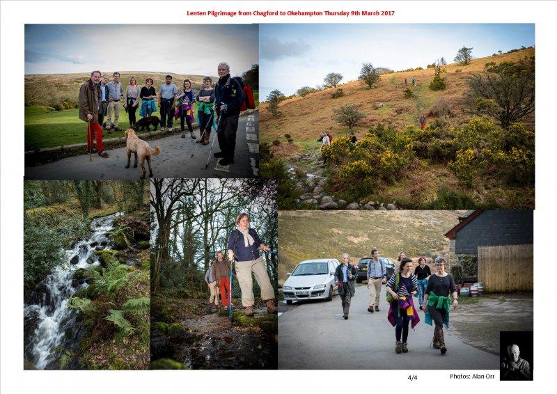 Lenten Pilgrimage from Chagford to Okehampton Thursday 9th March 2017